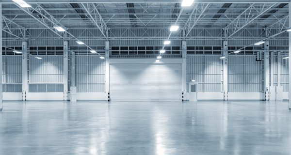 Industrial real estate warehouse vacant
